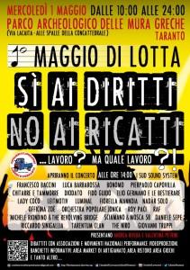 locandina 1 maggio a Taranto